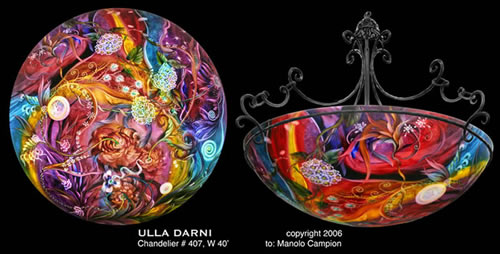 Ulla darni chandeliers glass artist galleria silecchia ulla darni ulla darni original chandelier aloadofball Images