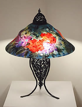 Original Lamps ulla darni lamps - glass artist, galleria silecchia