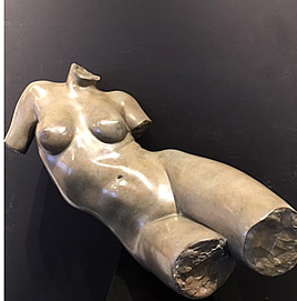 GLENNA GOODACRE BRONZE FLOATING TORSO