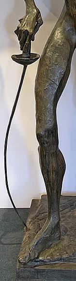 NATHANIEL KAZ - DON QUIXOTE - LEG AND SWORD DETAIL