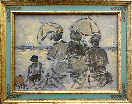HENRY ST. CLAIR-TROIS DAMES ET UN GARCON   SC166 (Three Ladies and a Boy)