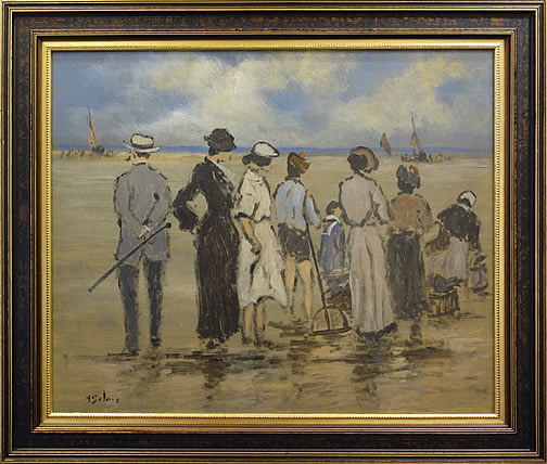 HENRY ST. CLAIR-LA PLAGE A MARIE BASSE  SC195 (The Bench at Low Tide)