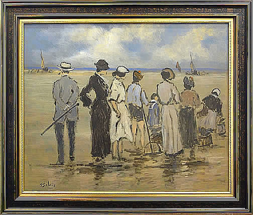HENRY ST. CLAIR-LA PLAGE A MARIE BASSE  SC195 (The Beach at Low Tide)