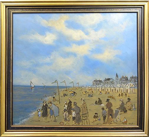 HENRY ST. CLAIR-LA PLAGE A TROUVILLE  SC199 (The Beach at Trouville)