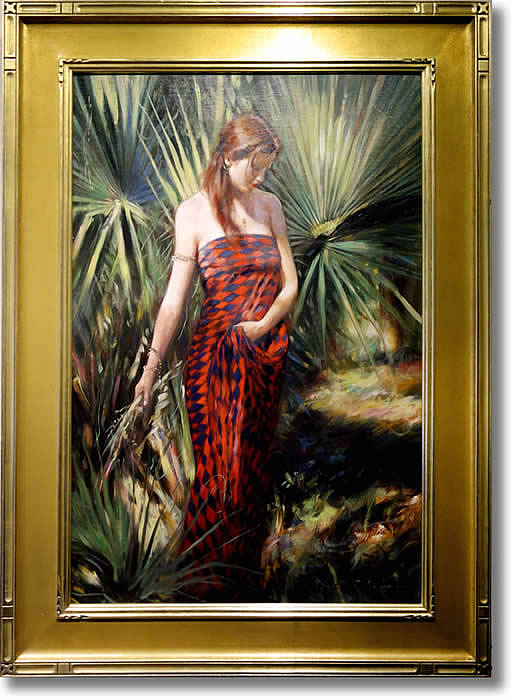 GLENN HARRINGTON - HARLEQUIN DRESS - FRAMED
