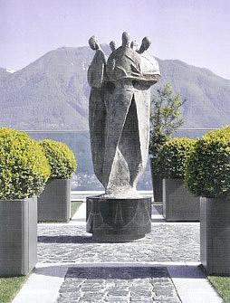 PEDRO PEDRAZZINI INSTALLED LAKESIDE BRIENZERSEE, SWITZERLAND