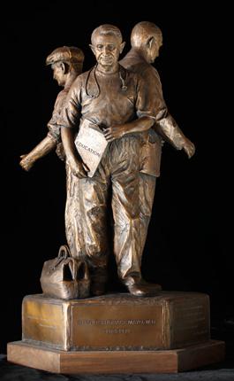 GLENNA GOODACRE MAYO ANCESTORS MAQUETTE, SCUPTURE IN THE ROUND